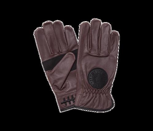 Loser Machine Death Grip Leather Gloves Brown