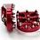 Thumbnail: FLO Moto Foot Pegs Harley Davidson / Dyna / Custom Chopper RED