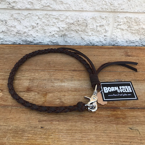 Brown Leather Wallet Chain