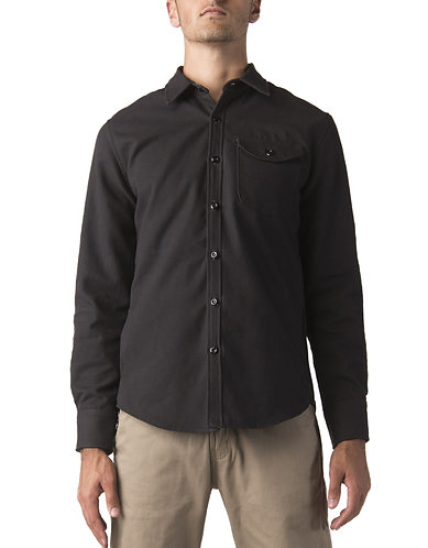 ABRASIVE RESISTANT-Dickies Moto Long Sleeve Work Shirt, Black