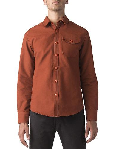 Dickies Moto Long Sleeve Work Shirt, BURNT ORANGE