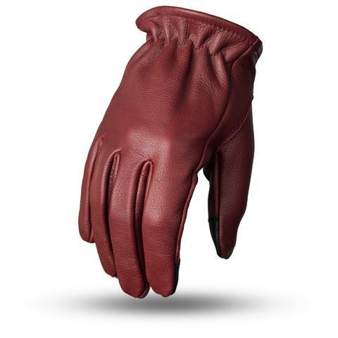 Short Cuff Roper Gloves in Ox Blood