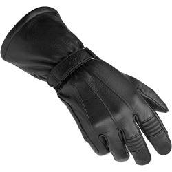 Gauntlet Gloves in Black Leather