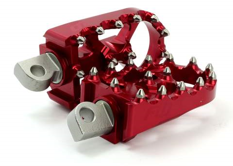 FLO Moto Foot Pegs Harley Davidson / Dyna / Custom Chopper RED