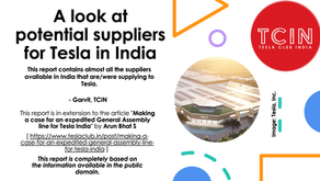 A look at Potential Suppliers for Tesla in India