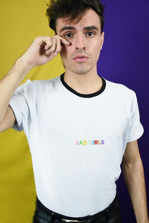 T-Shirt Sad Girls Branca