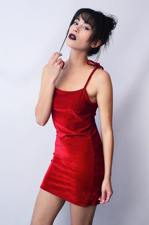 Vestido Camurça Vermelho