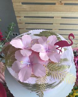 Flores delicadas para bolo.