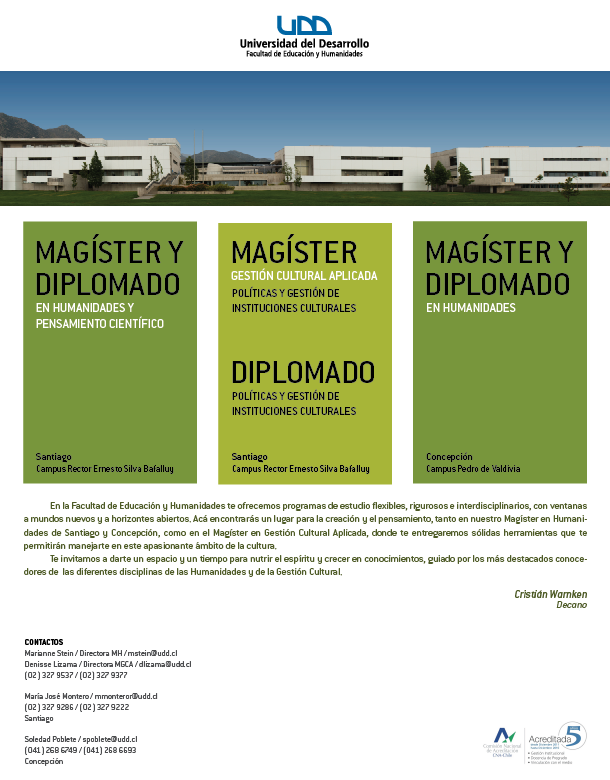 Publicación Magister/ Diplomados UDD