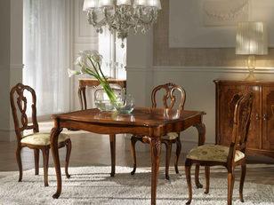 Tavolo noce allungabile in stile classico