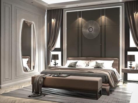 Specchiera retro illuminata in verticale con decoro