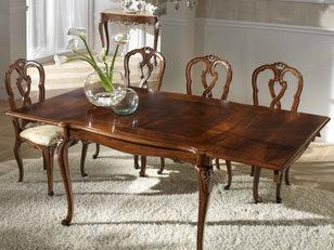 Tavolo noce in stile classico allungabile