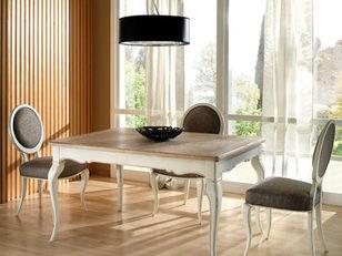 Tavolo rettangolare in finitura bicolore
