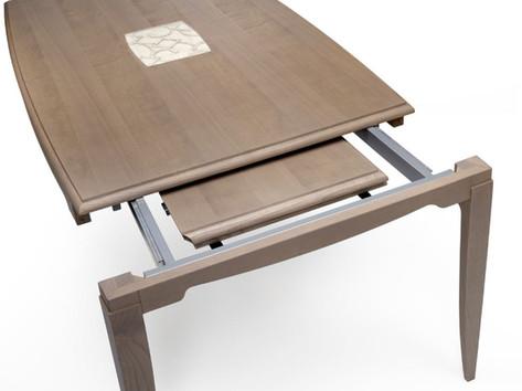 Tavolo rettangolare allungabile in frassino