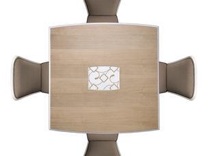 Tavolo quadrato in frassino in stile contemporaneo