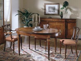 Tavolo ovale in ciliegio allungabile  stile classico
