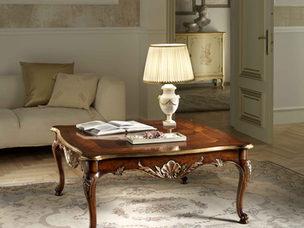 Tavolino quadrato noce in stile classico
