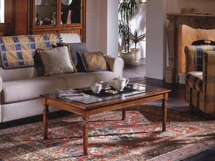 Tavolino rettangolare in ciliegio stile classico