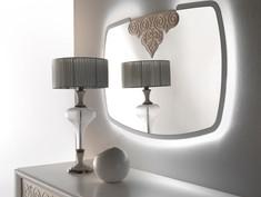 Specchiera retro illuminata con decoro