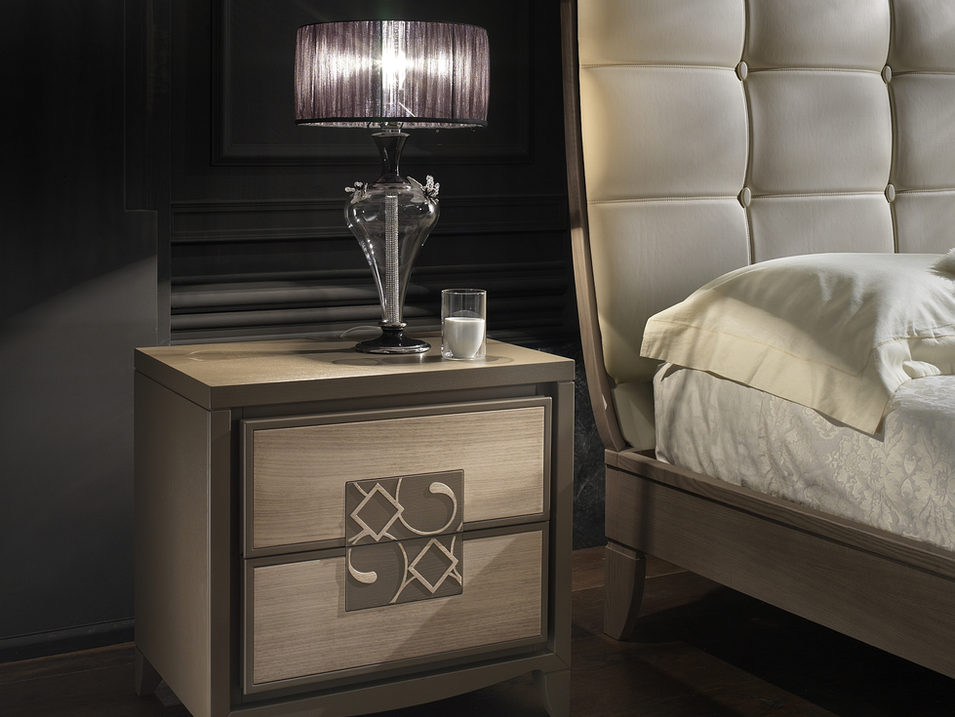 Ash bedside table with insert