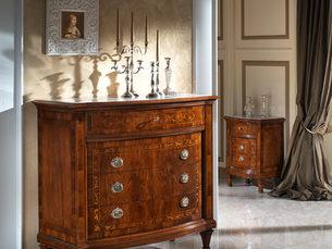 Comò e comodini artigianali con piano marmo Botticino