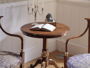 Tavolino rotondo noce in stile classico