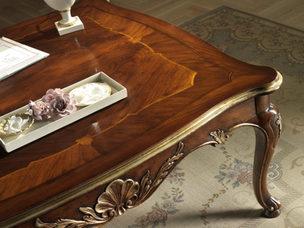 Tavolino con piano intarsiato