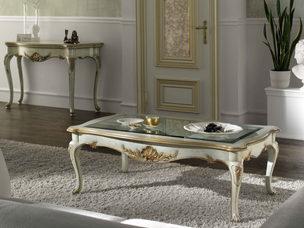 Tavolino rettangolare laccato stile classico