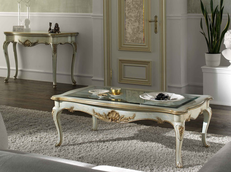 Tavolino laccato rettangolare classico