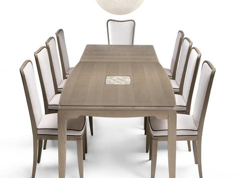 Tavolo rettangolare allungabile
