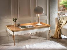 Tavolino classico rettangolare con intagli