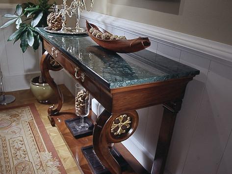 Consolle classica piano marmo