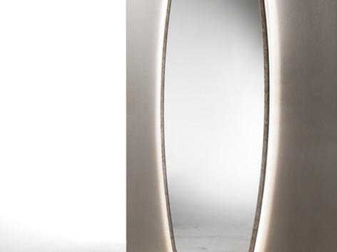 Specchiera verticale con luci led