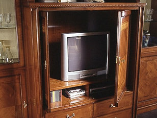 Composizione in ciliegio porta TV