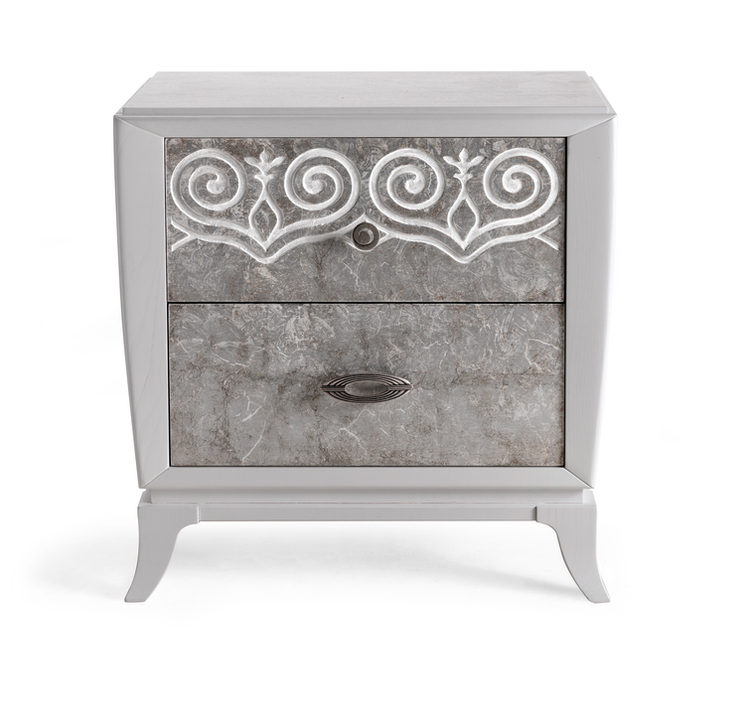Nightstand 2 drawers with feet