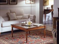 Tavolino quadrato in ciliegio