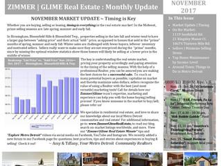 Zimmer|Glime Real Estate Newsletter ~ November 2017