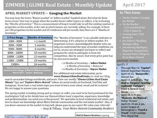 Zimmer|Glime April Real Estate Newsletter