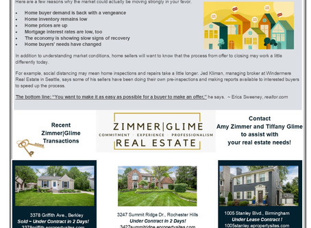 August 2020 Real Estate Newsletter