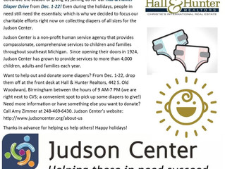 Donation to Judson Center's Diaper Drive!