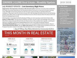 July Zimmer|Glime Real Estate Newsletter
