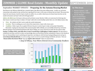 September 2018 Zimmer|Glime Real Estate Newsletter