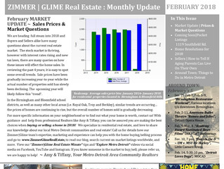 What's Happening In Your Neighborhood? ~ Zimmer|Glimmer February 2018 Reeal Estate Newsletter