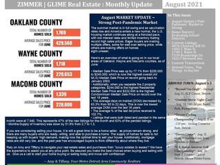 August 2021 Real Estate Newsletter