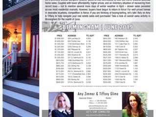 """""""Monthly Market Snapshot"""" for June 2019 ~ Birmingham"""
