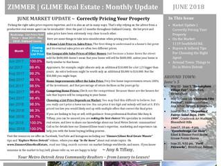 June Zimmer|Glime Real Estate Newsletter