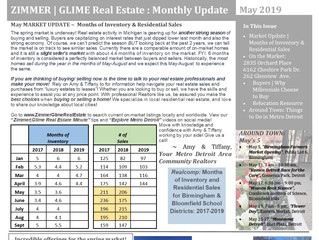 Zimmer|Glime Real Estate Newsletter ~ May 2019