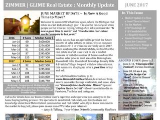 Zimmer|Glime Real Estate newsletter ~ JUNE 2017