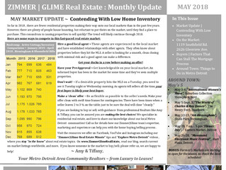 Zimmer|Glime Real Estate May 2018 Newsletter