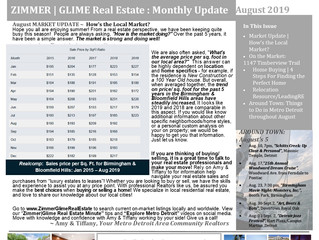 Zimmer|Glime Real Estate Newsletter ~ August 2019